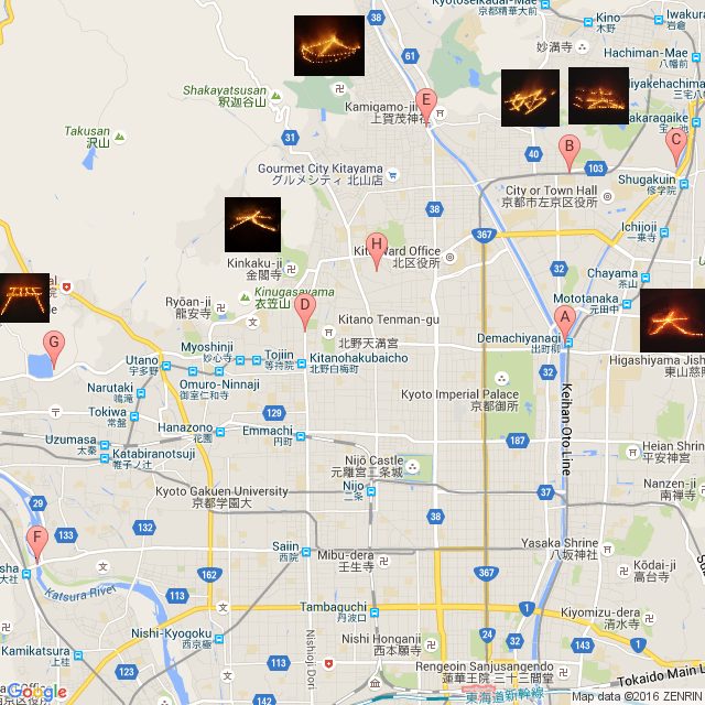 Gozan okuribi map