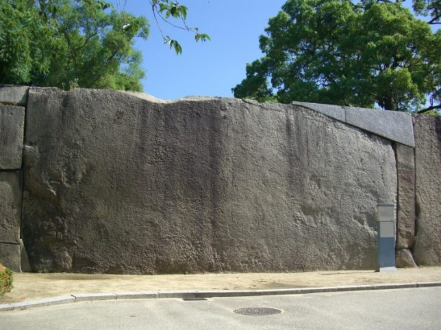 osaka castle stone wall