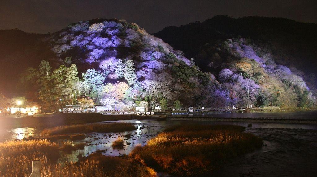 arashiyama lit up