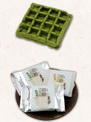 This image has an empty alt attribute; its file name is matcha-waffle.jpg