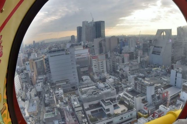 a view from the ebisu tower