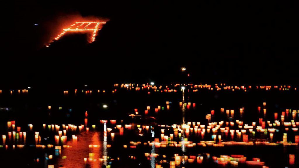 arashiyama floating lanterns